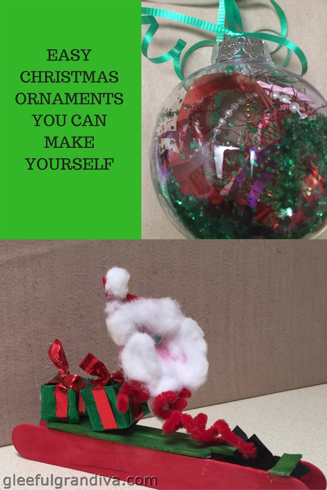 Easy christmas ornaments you can make yourself gleeful for Christmas decorations to make yourself